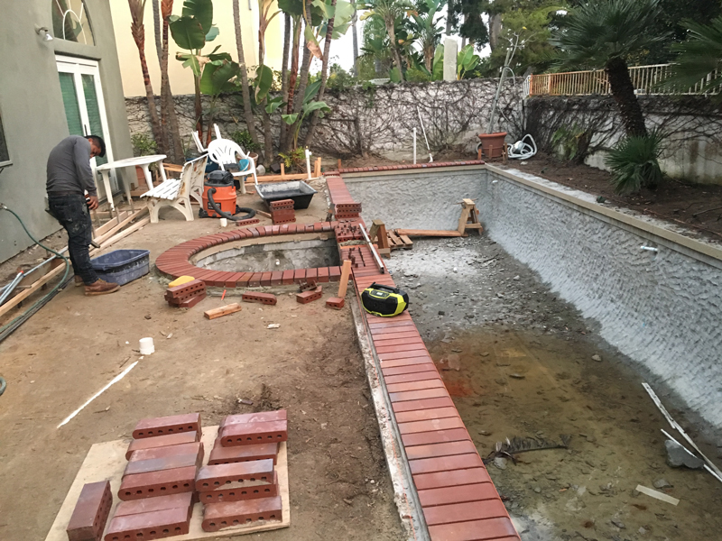 Framing for Concrete Counters of Outdoor Kitchen Encinitas