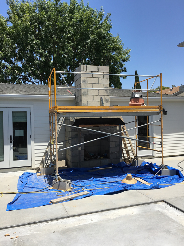 Concrete Framing of Outdoor Hearth