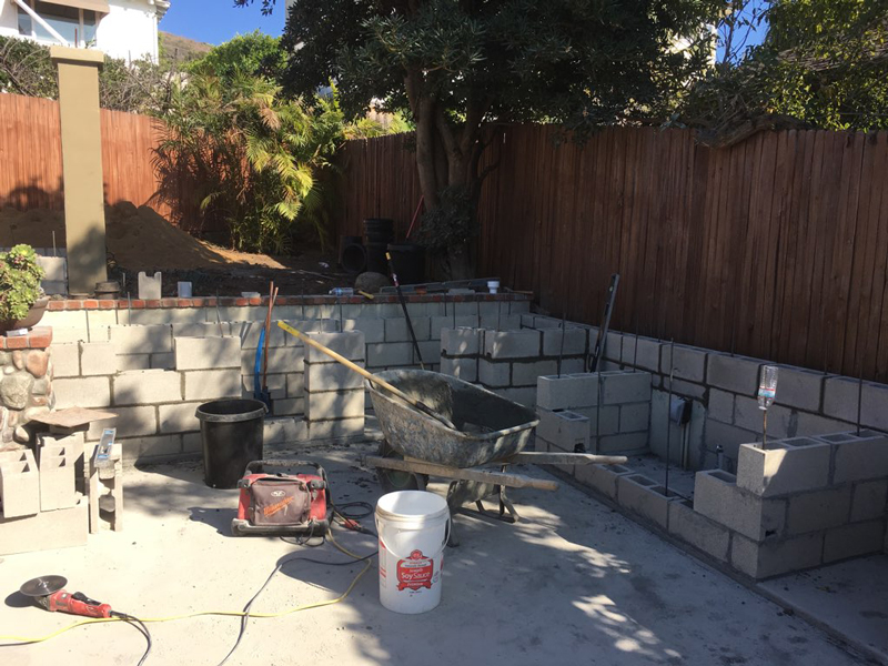 patio grill construction