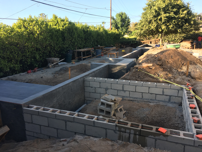 retaining wall construction La Jolla